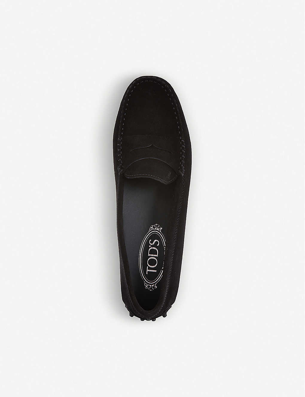 fc20e5ad954 ... Gommino driving shoes in suede - Black ...