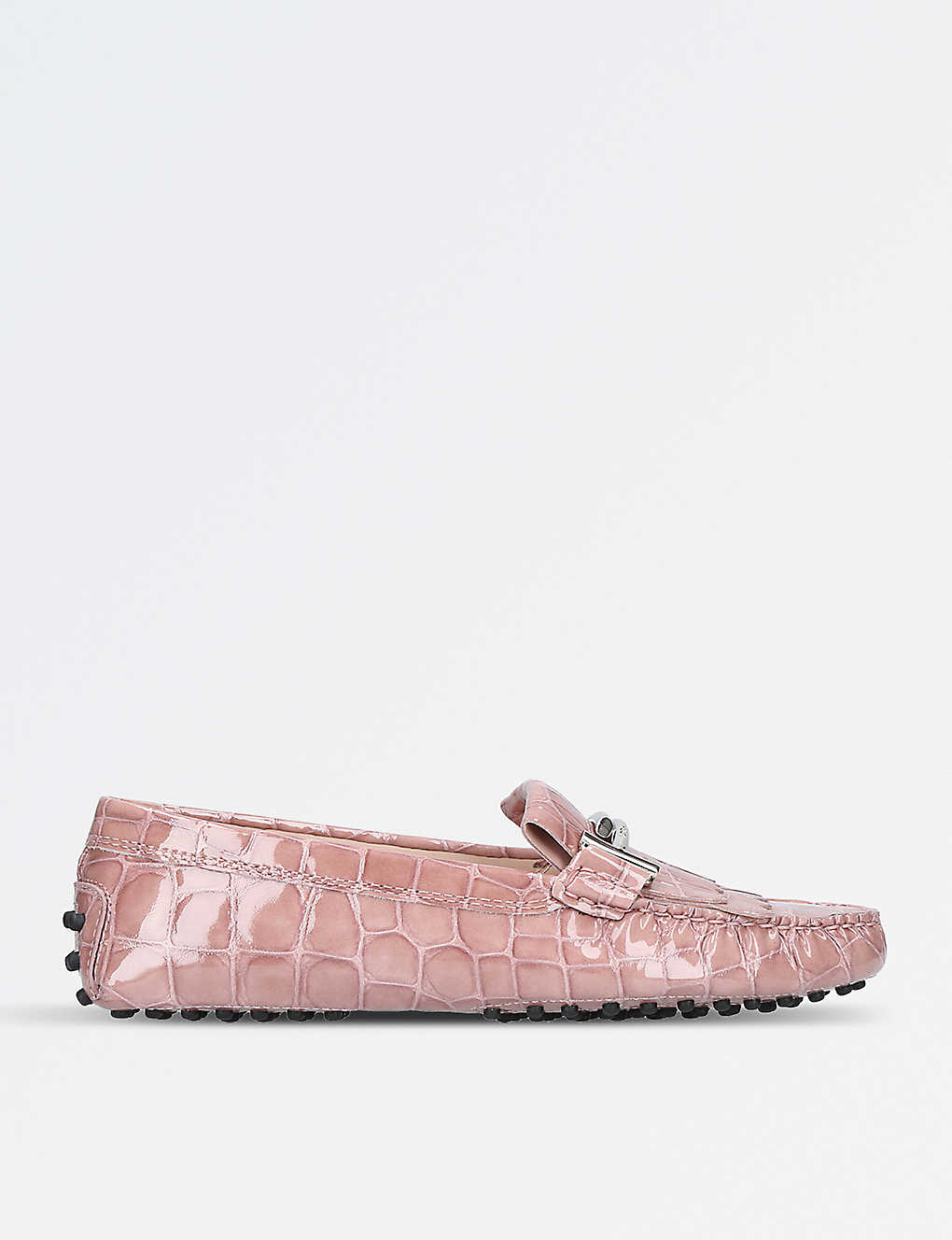 f157ed5c03334 TODS - Gommino reptile-embossed leather driving shoes | Selfridges.com