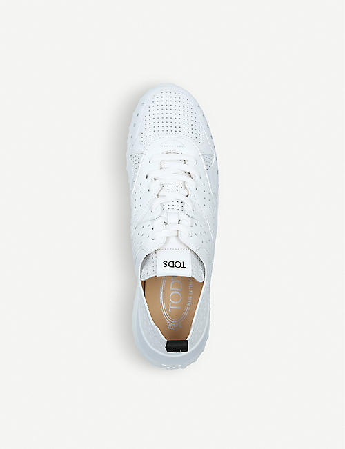 TODS Sport 80a perforated leather trainers