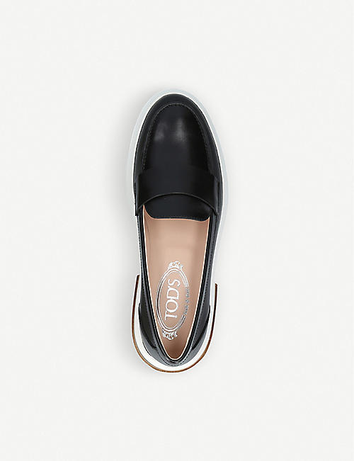 TODS Gomma Travers leather loafers