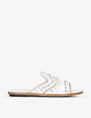 TODS: Gommini studded leather sandals