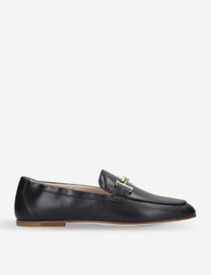 TODS T leather loafers