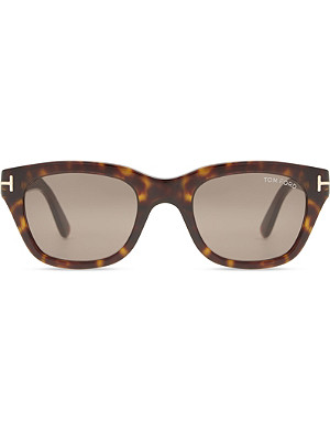 TOM FORD Snowdon tortoiseshell square-frame sunglasses