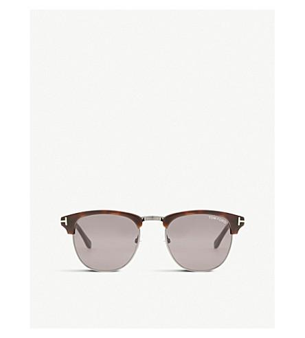 8efae209e800 ... TOM FORD Henry square half-frame sunglasses (Tortoise+light.  PreviousNext