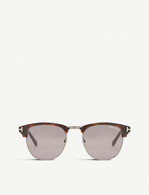 TOM FORD Henry square half-frame sunglasses