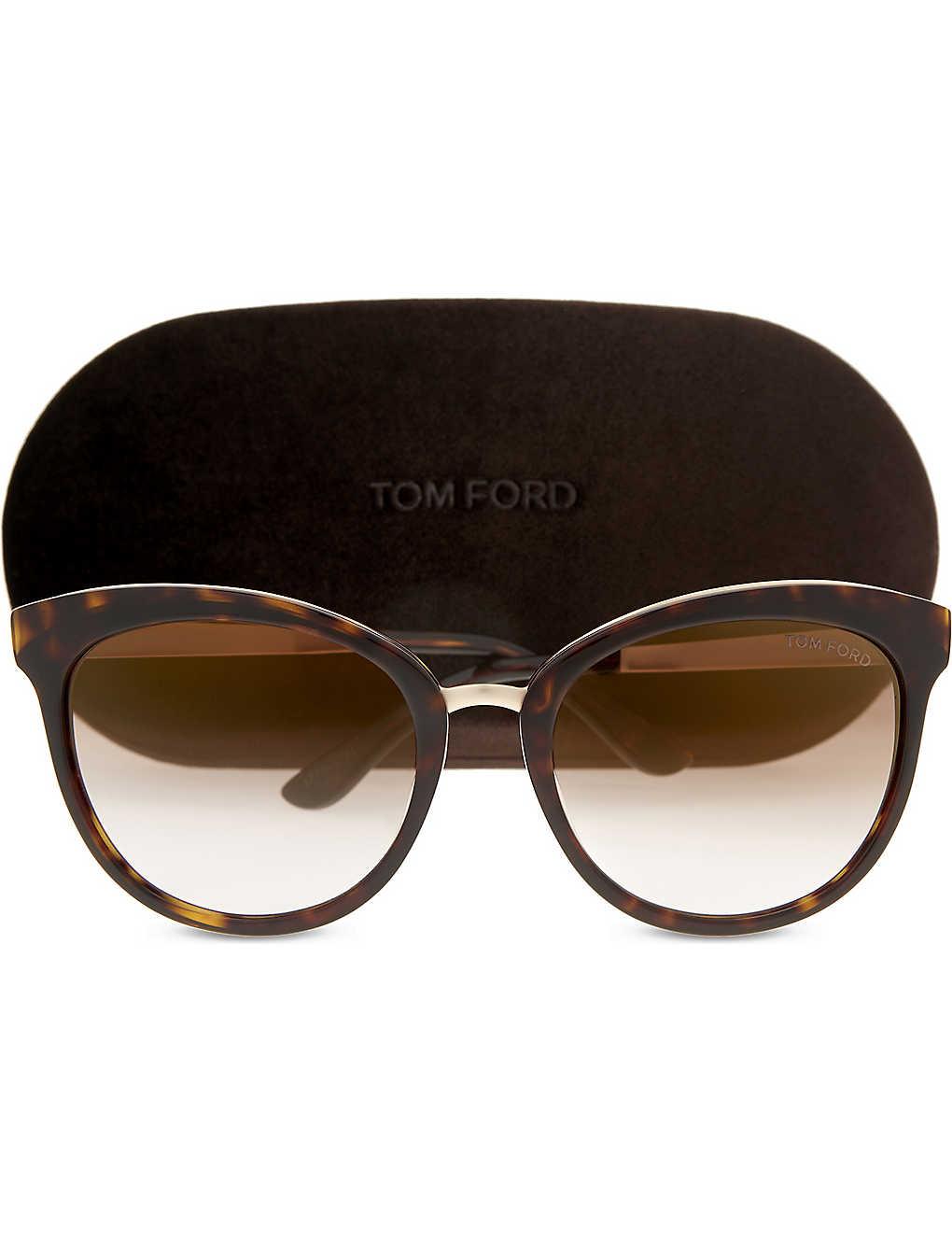 8e0d4d37b9 TOM FORD - Emma tortoiseshell cat-eye frame sunglasses