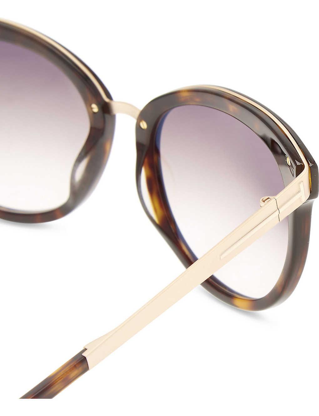 10167e40ee Emma tortoiseshell cat-eye frame sunglasses - Tortoise ...