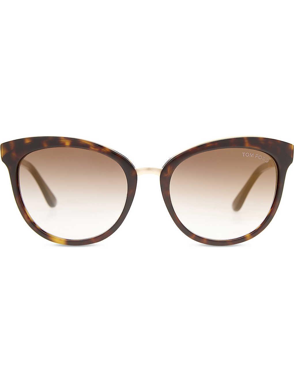 c9c13738f0d4d Emma tortoiseshell cat-eye frame sunglasses - Tortoise ...