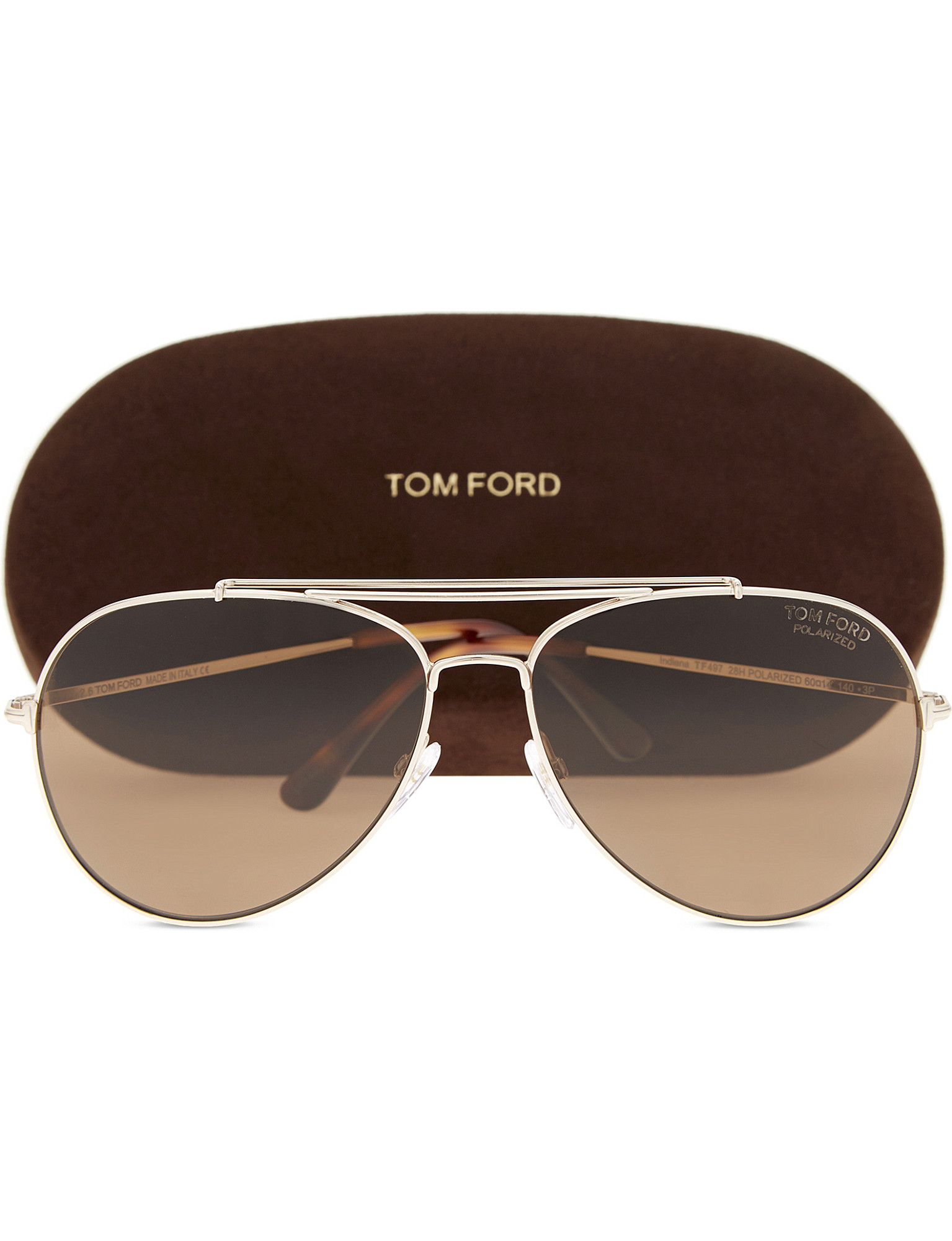 787666601696 ... Indiana Ft0497 aviator sunglasses - Pink gold zoom ...