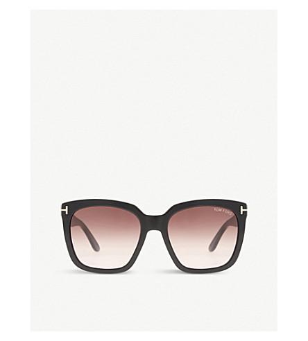 6522bdcddbad TOM FORD Amara square-frame sunglasses (Black+shiny
