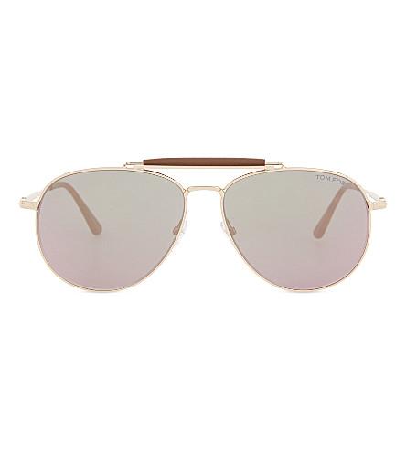 5a0b63c941abb TOM FORD Sean aviator sunglasses (Pink+gold