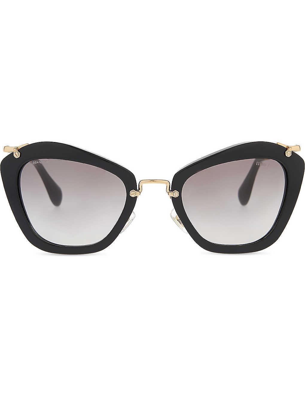 37593c4d4b35 MIU MIU - MU10NS Noir cat eye-frame sunglasses   Selfridges.com