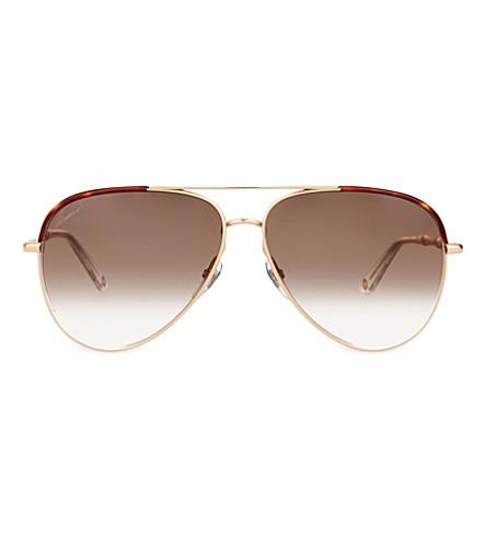 e477bc593f6 GUCCI Gg4276 aviator sunglasses (Copper+gold