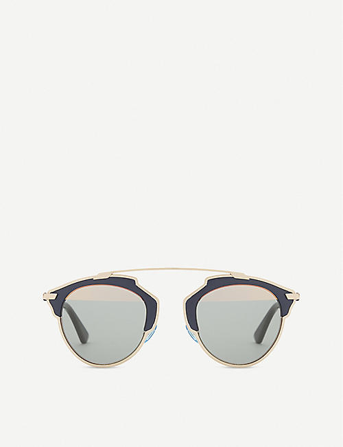 DIOR: So Real Pop oval-frame sunglasses