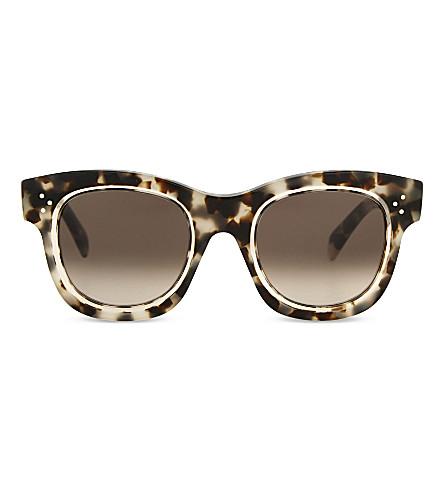 3887d6c00fea CELINE - Cl41397 S tortoiseshell round-frame sunglasses