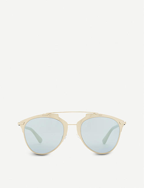 DIOR: Reflected oval sunglasses
