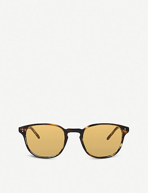 0fde19cee251 OLIVER PEOPLES Ov5219s Fairmont Sun round frame sunglasses
