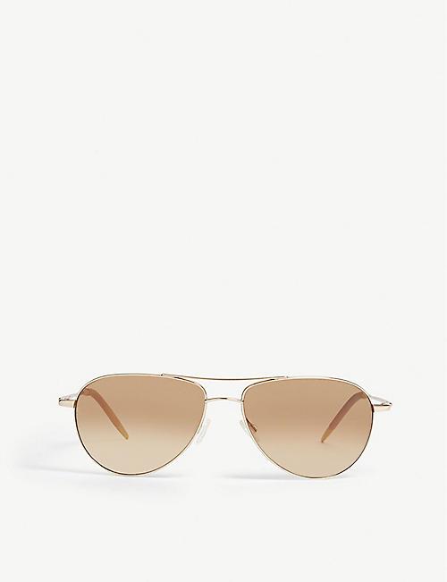 2154aededbbf OLIVER PEOPLES OV1002S Benedict pilot-frame sunglasses