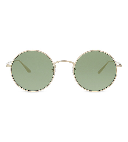 3cbd4624a1b OLIVER PEOPLES Ov1197st The Row after Midnight round-frame sunglasses (Gold