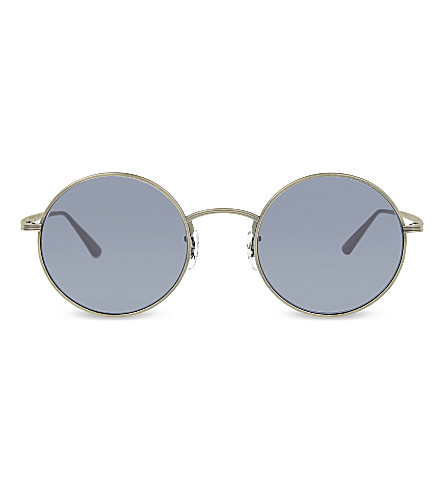 e3cc1cec6504a OLIVER PEOPLES OV1197ST The Row after midnight round-frame sunglasses  (Gunmetal