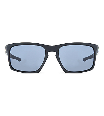 Sliver™ Polarised Square-Frame Sunglasses, Matte Black