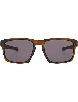 OAKLEY Havana rectangle sunglasses