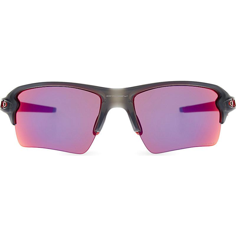 OAKLEY   Oakley Flak™ 2.0 XL PRIZM™ Road Wrap-Around Sunglasses, Women'S, Size: XL, Matte Grey Smoke   Goxip