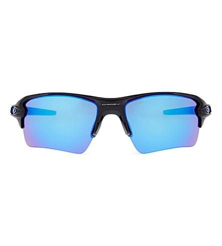f7dbaff29e6 Oakley Flak 2.0 Xl Team Color Wrap-Around Sunglasses In Polished Black
