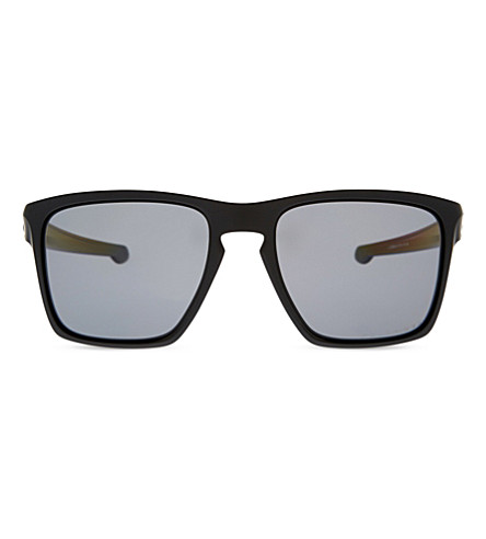 Oo9341 Sliver Xl Polarized Square-Frame Sunglasses, Matte Black