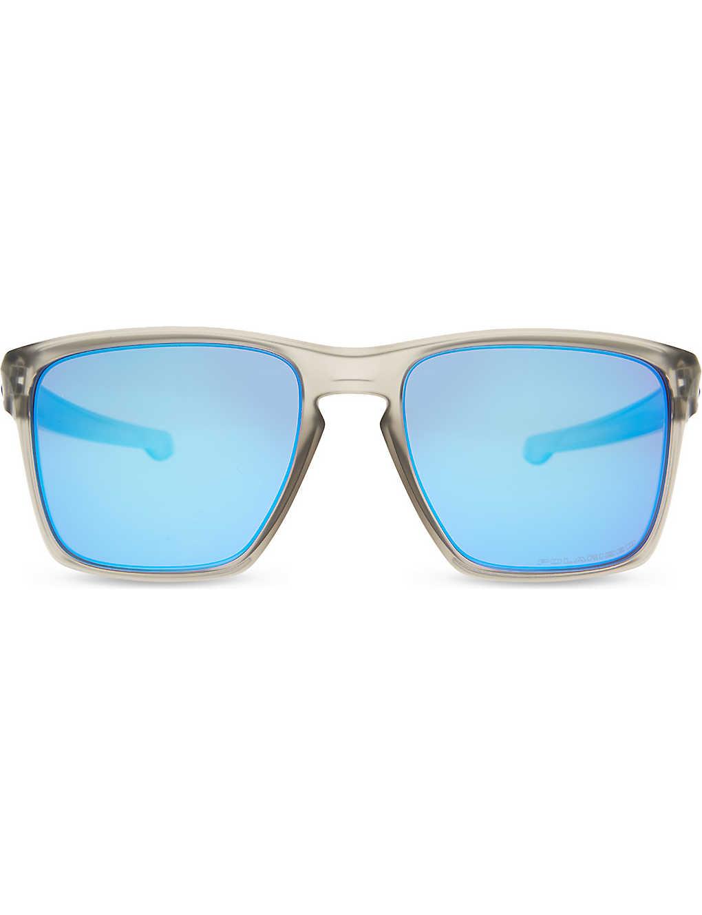 5cc66ed7559d7 OO9341 Sliver XL polarized square-frame sunglasses - Matte grey ink ...