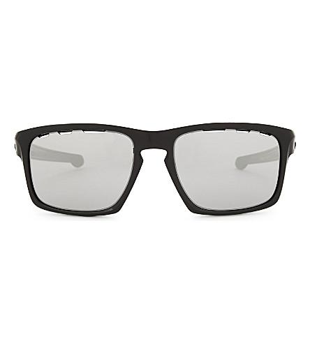 5cb30fedb8e66 OAKLEY OO9262 Sliver Vented rectangle-frame sunglasses (Black