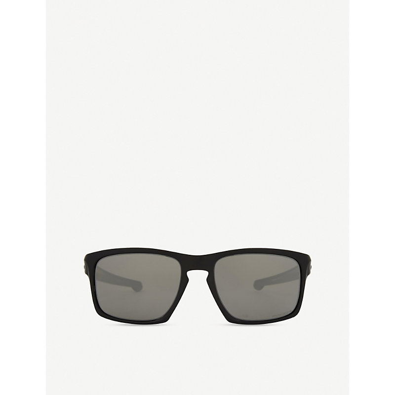 Oo9262 Sliver Rectangle-Frame Sunglasses, Matte Black