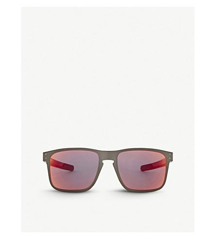 Oakley Holbrook Metal Polarised Square-Frame Sunglasses In Matte ...
