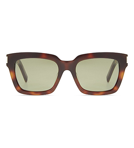 ff5c7a1e768 SAINT LAURENT Bold 1 003 square-frame tortoiseshell sunglasses  (Tortoise+brown