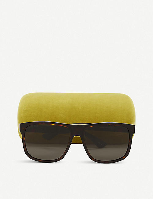 GUCCI Gg0010 rectangle-frame sunglasses