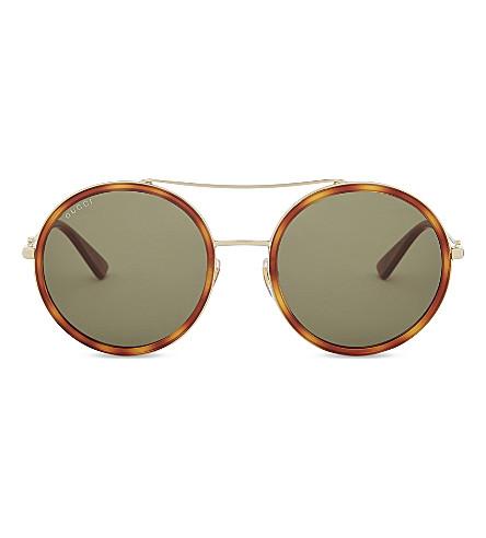 874fa586c1 GUCCI GG0061S round-frame sunglasses (Gold