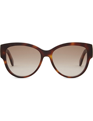 SAINT LAURENT M3 tortoiseshell oval-frame sunglasses