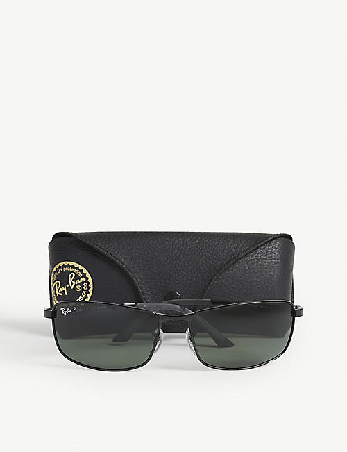 RAY-BAN Polarised D-frame sunglasses RB3498 64