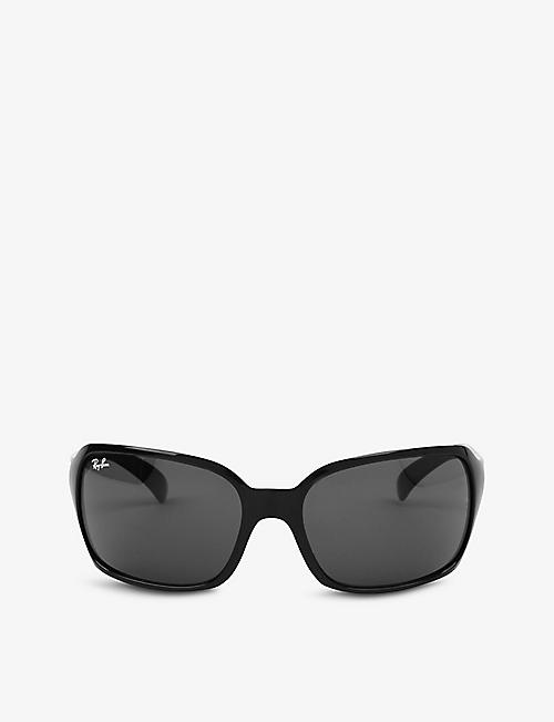 RAY-BAN: Black high street square sunglasses RB4068 60