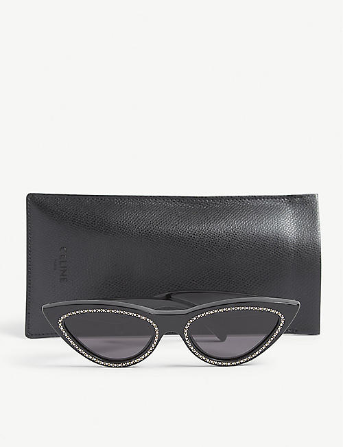 CELINE Cl4019IS embellished cat-eye frame sunglasses