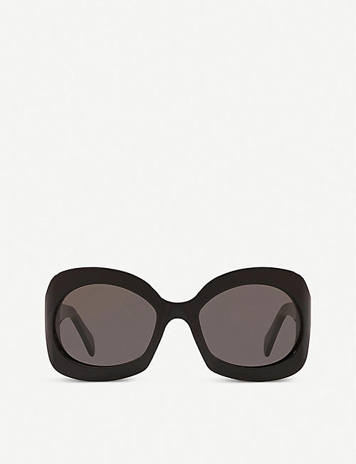 CELINE: CL40097I acetate round sunglasses