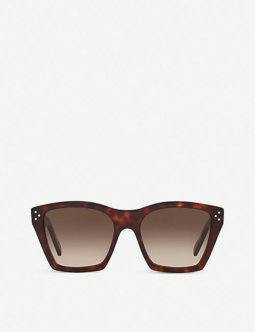 CELINE: CL40090I acetate cat-eye sunglasses