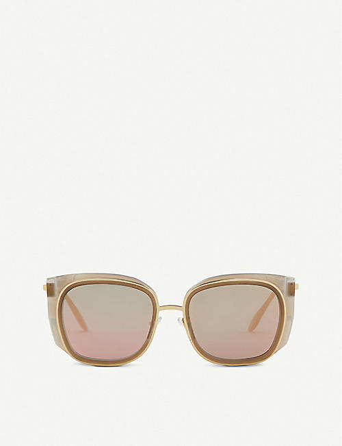 THIERRY LASRY: Enigmaty square-frame sunglasses