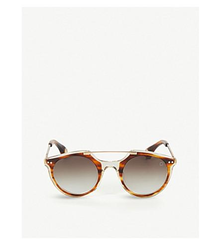 BLAKE KUWAHARA Eichler Acetate Sunglasses in Blue Multi