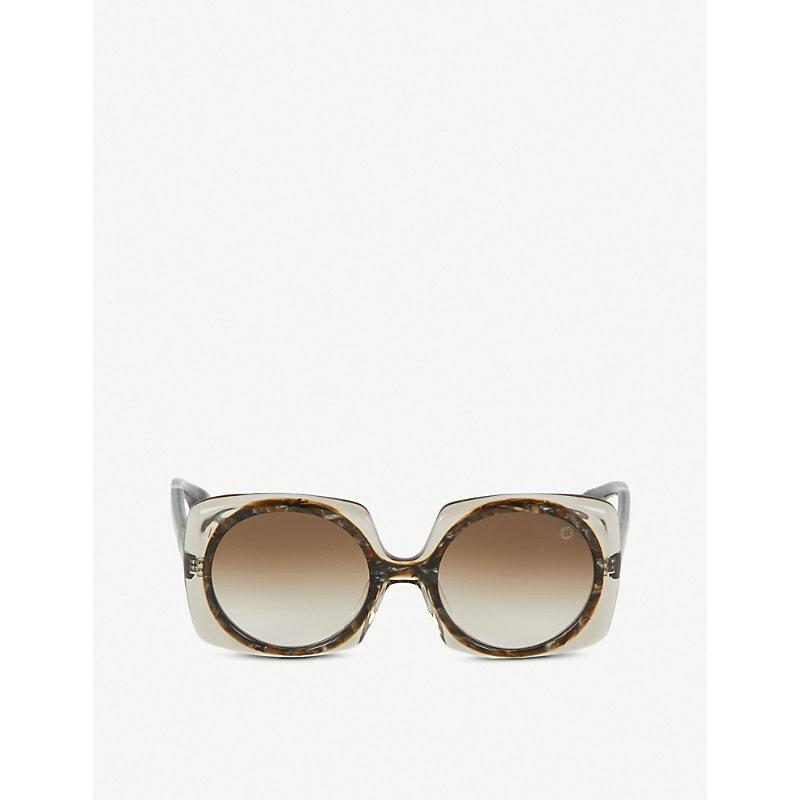 BLAKE KUWAHARA Botta Acetate Sunglasses in Blue