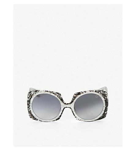 BLAKE KUWAHARA Botta Acetate Sunglasses in Grey Light