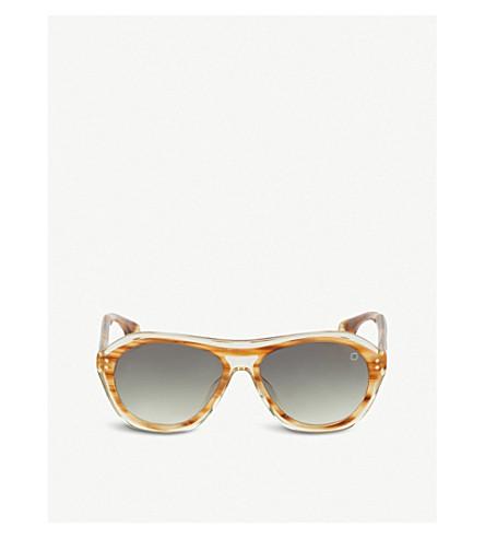 BLAKE KUWAHARA Renwick Acetate Aviator Sunglasses in Brown Bronze
