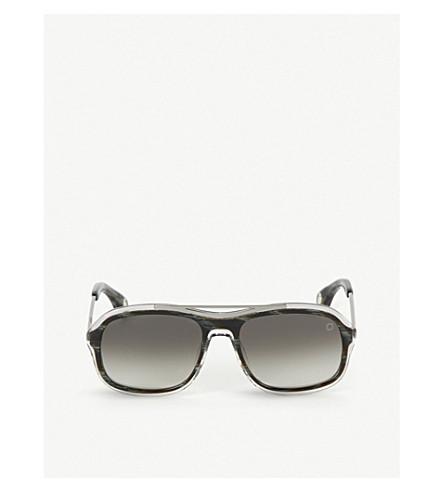 BLAKE KUWAHARA Niemeyer Acetate Sunglasses in Black Black