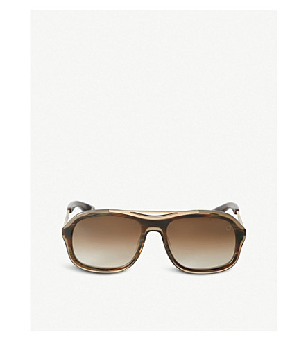 BLAKE KUWAHARA Niemeyer Acetate Sunglasses in Brown