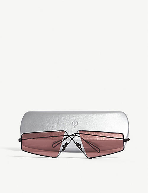 NATURE OF REALITY (NOR) Irregular-frame cross-bridge sunglasses